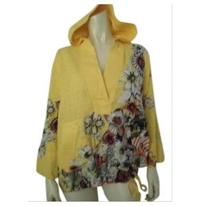 Chico's Shirt Hoodie 1 Cotton Cityscape Pullover